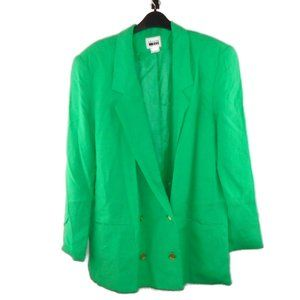 Leslie Fay Blazer Suit Jacket 16 Green Long Sleeve